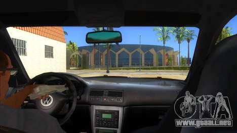 Volkswagen Golf R32 Hatsune Miku Itasha para visión interna GTA San Andreas