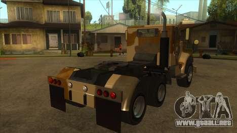 GTA V HVY Barracks Semi para la visión correcta GTA San Andreas