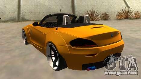 BMW Z4 Liberty Walk Performance para GTA San Andreas vista posterior izquierda