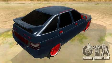 VAZ 2112 Hobo para la visión correcta GTA San Andreas