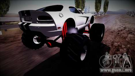 Dodge Viper SRT10 Monster Truck para GTA San Andreas left