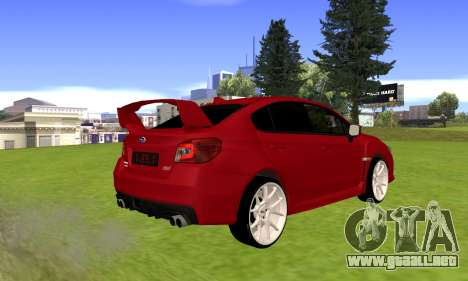 Subaru WRX STI 2015 para GTA San Andreas vista posterior izquierda