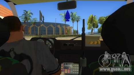 Yugo GV Police para visión interna GTA San Andreas