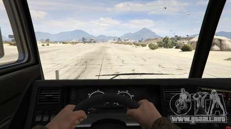 GTA 5 Los Angeles Fire Truck vista trasera