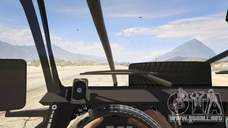 GTA 5 Land Rover 110 Pickup Armoured vista trasera