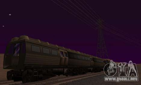 Batman Begins Monorail Train Vagon v1 para vista inferior GTA San Andreas