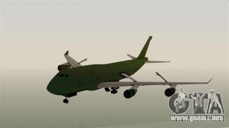 GTA 5 Jumbo Jet v1.0 para GTA San Andreas vista posterior izquierda