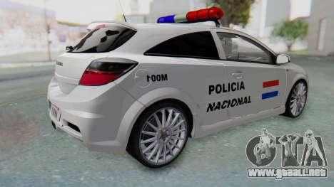 Opel-Vauxhall Astra Policia para GTA San Andreas left