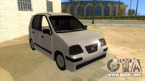 Hyundai Atos 2006 para GTA San Andreas vista hacia atrás
