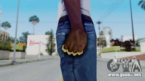 The Hustler Knuckle Dusters from Ill GG Part 2 para GTA San Andreas tercera pantalla