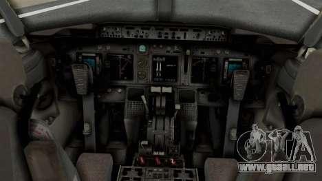 Boeing 737-800 Business Jet Indian Air Force para la visión correcta GTA San Andreas