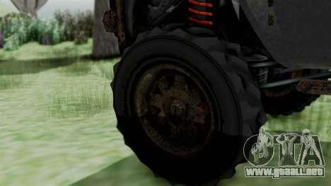 GTA 5 Karin Rebel 4x4 Worn IVF para GTA San Andreas vista posterior izquierda