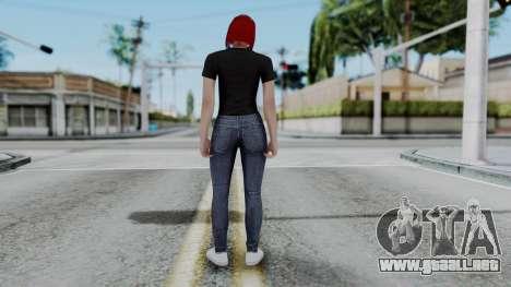 Female Skin 2 from GTA 5 Online para GTA San Andreas tercera pantalla