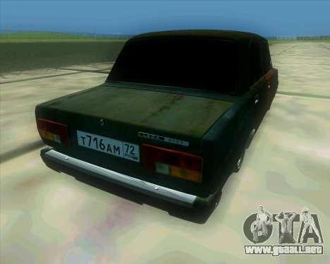 VAZ 2107 Hobo para GTA San Andreas left