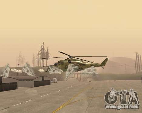 Un Mi-24 En El Cocodrilo para visión interna GTA San Andreas