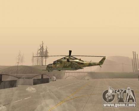 Un Mi-24 En El Cocodrilo para GTA San Andreas left