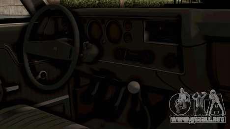 Chevrolet El Camino SS 1970 Monster Truck para la visión correcta GTA San Andreas