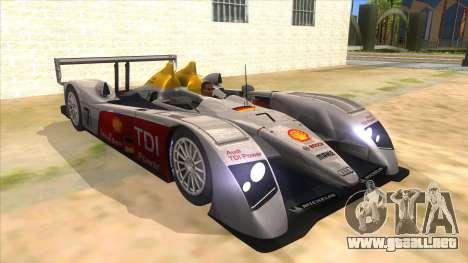 Audi R10 para GTA San Andreas vista hacia atrás