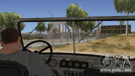 UAZ-469 Old Green Rust para visión interna GTA San Andreas