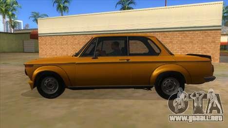 1974 BMW 2002 turbo v1.1 para GTA San Andreas left