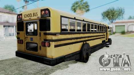 Armored School Bus para GTA San Andreas left