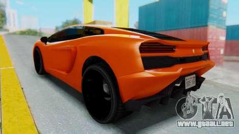 GTA 5 Pegassi Vacca IVF para GTA San Andreas vista posterior izquierda