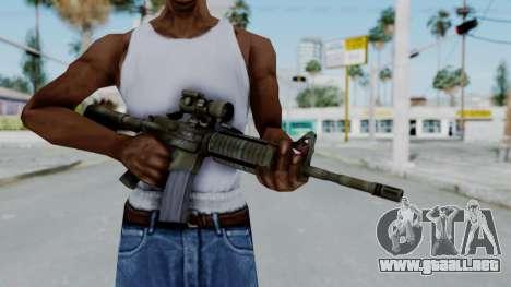 Arma2 M4A1 CCO Camo para GTA San Andreas tercera pantalla