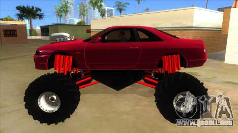 Nissan Skyline R33 Monster Truck para GTA San Andreas left