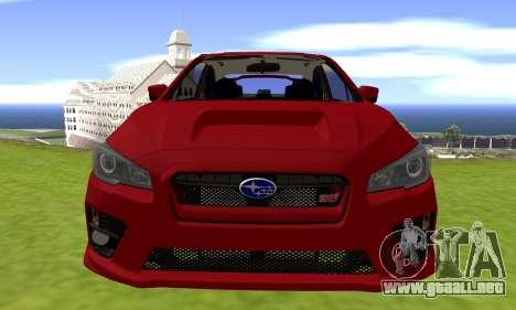 Subaru WRX STI 2015 para la visión correcta GTA San Andreas