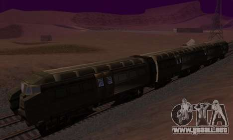 Batman Begins Monorail Train Vagon v1 para GTA San Andreas vista posterior izquierda