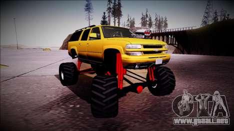 2003 Chevrolet Suburban Monster Truck para GTA San Andreas left
