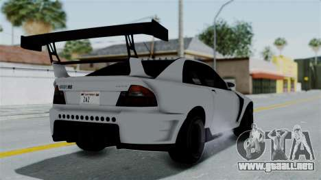 GTA 5 Karin Sultan RS Drift Double Spoiler PJ para GTA San Andreas left