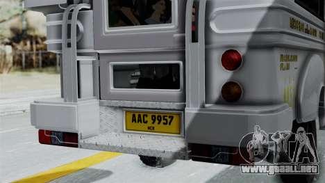Jeepney Philippines para visión interna GTA San Andreas