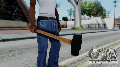 No More Room in Hell - Sledgehammer para GTA San Andreas tercera pantalla