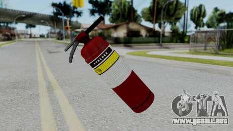 No More Room in Hell - Fire Extingusher para GTA San Andreas segunda pantalla