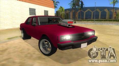 1984 Chevrolet Impala Drag para GTA San Andreas vista hacia atrás