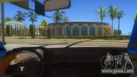Yugo Koral Police para visión interna GTA San Andreas