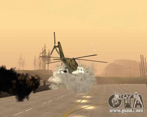 Un Mi-24 En El Cocodrilo para vista inferior GTA San Andreas