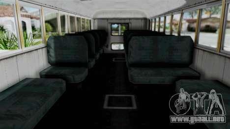 Armored School Bus para la visión correcta GTA San Andreas