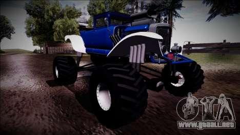 GTA 5 Albany Franken Stange Monster Truck para vista inferior GTA San Andreas