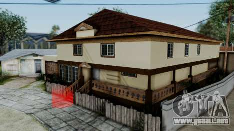 CJ House with Frame and Book para GTA San Andreas