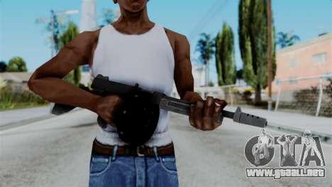 GTA 5 Gusenberg Sweeper - Misterix 4 Weapons para GTA San Andreas tercera pantalla
