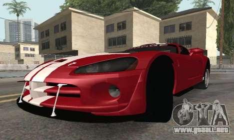 Dodge Viper Competition Coupe para la visión correcta GTA San Andreas