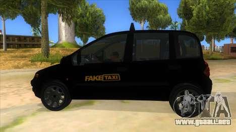 Fiat Multipla FAKETAXI para GTA San Andreas left