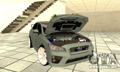 Subaru WRX STI 2015 para GTA San Andreas vista hacia atrás