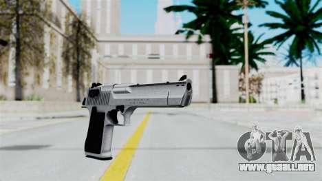 Pouxs Desert Eagle v2 Chrome para GTA San Andreas segunda pantalla