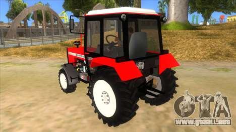 Massley Ferguson Tractor para GTA San Andreas vista posterior izquierda