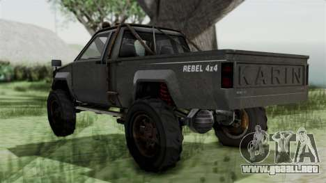 GTA 5 Karin Rebel 4x4 Worn IVF para GTA San Andreas left