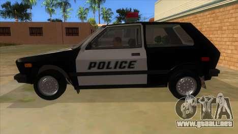 Yugo GV Police para GTA San Andreas left