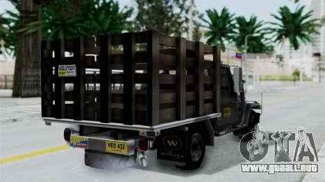Jeep con Estacas Stylo Colombia para GTA San Andreas left